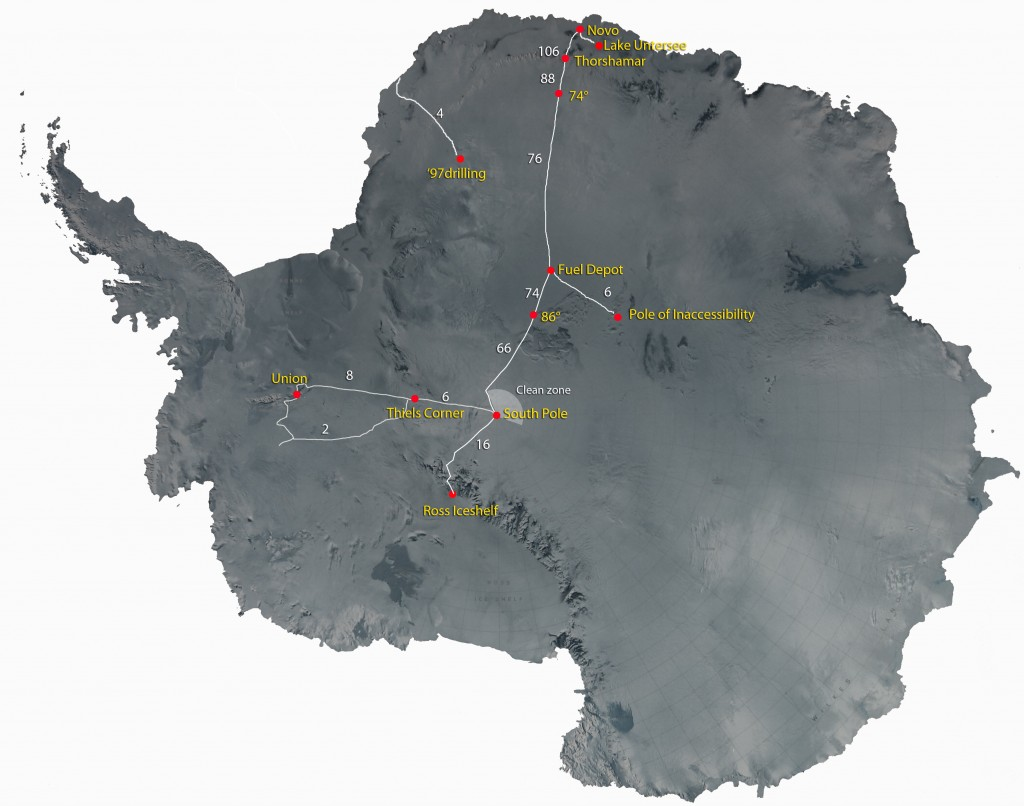 Arctic Trucks has gathered extensive operational knowhow having covered 223 thousand km on the Antarctica plateau by Jan 2015